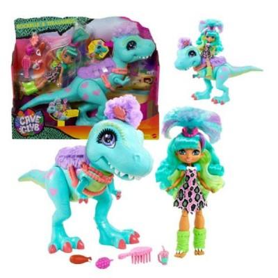 Nukud  Mattel Doll Cave Club Rockelle + Tyrasaurus