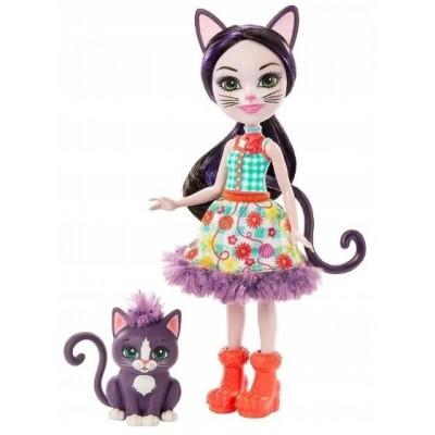 Nukud  Mattel Enchantimals Ciesta + cat