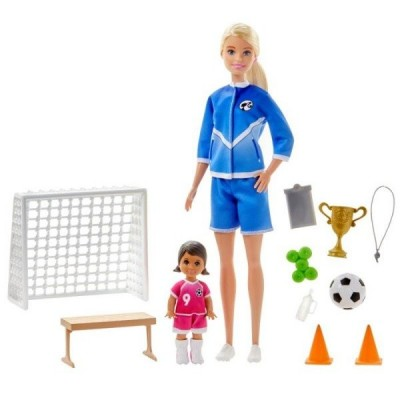 Nukud  Barbie You Can Be Anything Soccer Coach