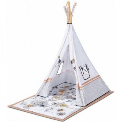 Mängumatt  Kinderkraft Tippy tekstiilist mängumatt 3in1