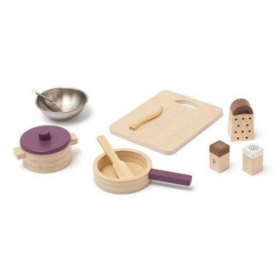 Loomingulised  Kids Concept puidust nukunõude köögikomplekt