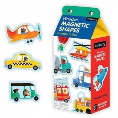 Loomingulised  Mudpuppy Puidust Magnetid Transport 35 el.