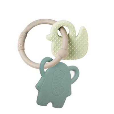 Kõristid, närimislelud imikute mänguasjad  Nattou silikoonist