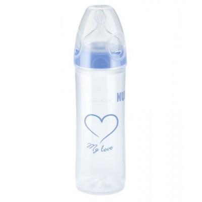 На месте в магазине  NUK бутылочка для кормления 250ml Голубая