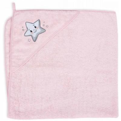 Для купания  Ceba Star Pink Детское полотенце 100x100см